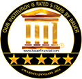 our institution is rates 5-stars by bauer.